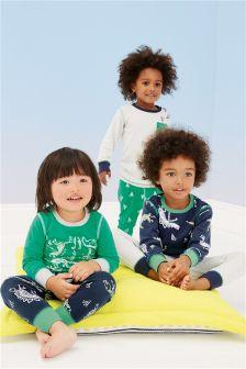 Dino Image Pyjamas Three Pack (9mths-8yrs)