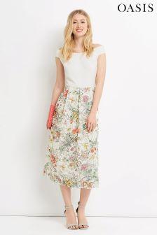 Oasis Ivory Spring Lace Bardot Dress