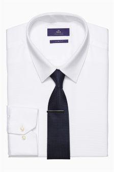 Shirt, Tie And Tie Clip Set