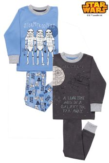 Blue Star Wars™ Snuggle Fit Pyjamas Two Pack (1.5-8yrs)