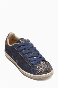 Mix Material Low Trainers (Older Girls)