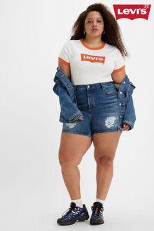 Navy Contrast Stitch Pencil Skirt