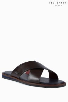 Ted Baker Brown Punxel Cross Strap Sandal