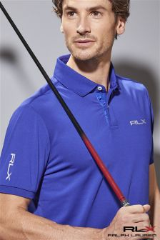 Ralph Lauren Polo RLX Golf Royal Blue Airflow Polo