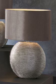 Large Scratch Ceramic Table Lamp