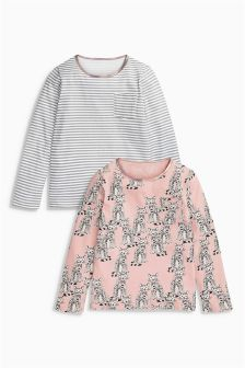 Pyjama Tops Two Pack (3-16yrs)