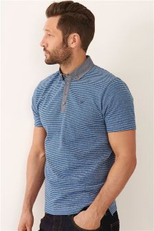 Chambray Collar Poloshirt