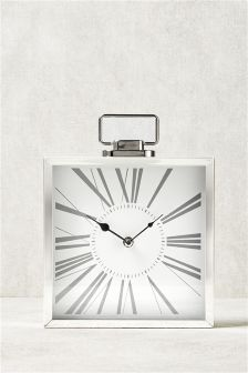 Premium Chrome Mantle Clock