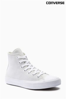 Converse White Leather Chuck Taylor All Star ll