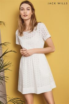Jack Wills White Edenfield Broderie Dress
