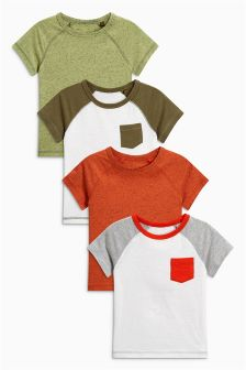 Short Sleeve Raglan T-Shirts Four Pack (3mths-6yrs)