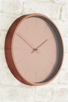 Copper Effect Wall Clock