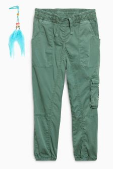 Tapered Utility Trousers With Hair Clip (3-16yrs)