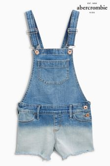 Abercrombie & Fitch Denim Dip Dye Dungaree
