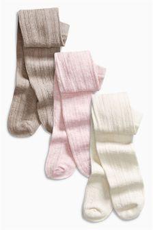 Cable Tights Three Pack (0mths-2yrs)