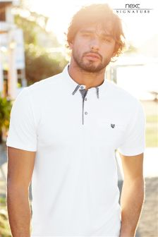 Signature Woven Collar Polo