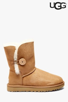 Chestnut Ugg Short Button Boot