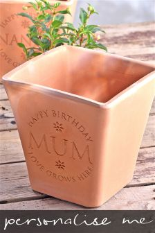 Happy Birthday Personalised Plant Pot By Letterfest