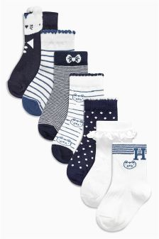 Cat Socks Seven Pack (Younger Girls)