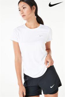 Nike White Miler Tee