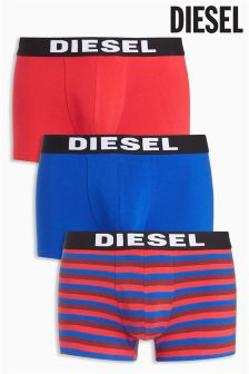 Diesel® Blue/Red Stripe Boxers Three Pack