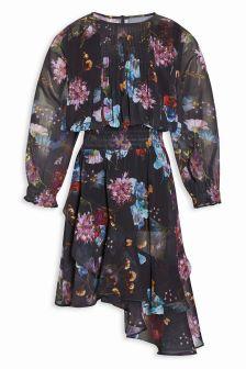 Asymmetric Print Dress (3-16yrs)
