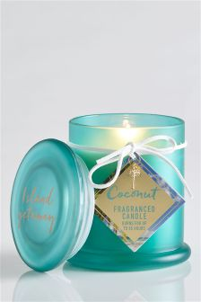 Coconut Fragranced Lidded Candle