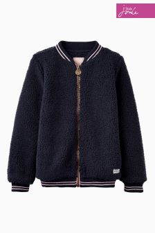 Joules Navy Fleece Bomber Jacket