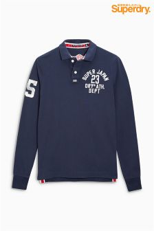 Superdry Appliqué Long Sleeve Polo