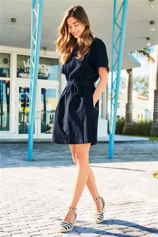 Denim Jersey Dress