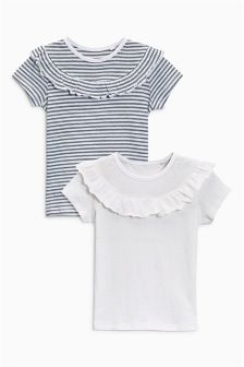Ruffle Tops Two Pack (3mths-6yrs)