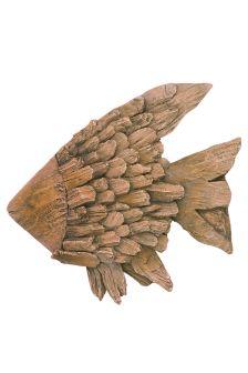 Driftwood Effect Fish Sculpture