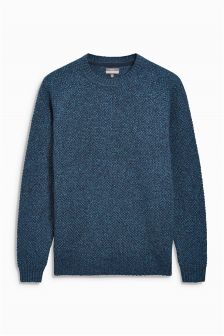 Textured Lambswool Crew