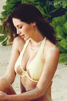 Figleaves Cream Priya Bikini Top