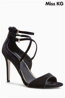 Miss KG Black Faun Cross Strap Sandal