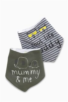 Mummy/Daddy Dribble Bibs Two Pack