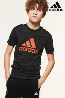 adidas Charcoal Logo T-Shirt