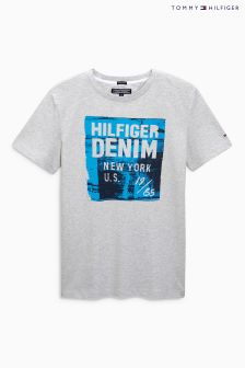 Tommy Hilfiger Grey Logo T-Shirt