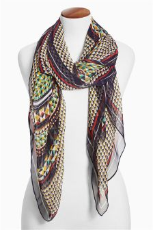 Printed Oversized Scarf