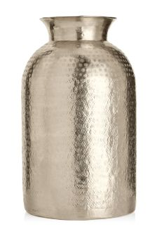 Large Patterned Metal Vase