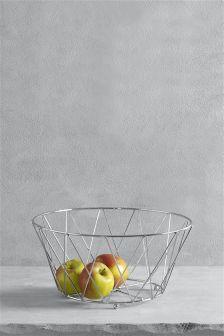 Chrome Wire Fruit Bowl