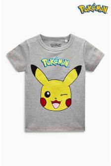 Short Sleeve Bouclé Pikachu T-Shirt (2-6yrs)