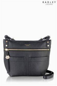 Radley® Black Kensal Medium Zip Top Across Body Bag