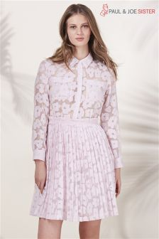Paul & Joe Sister Pink Floral Lace Dress