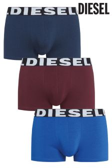 Diesel® Burgundy/Navy/Blue Boxers Three Pack