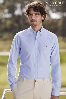 Ralph Lauren Polo Golf Blue Interlock Long Sleeve Shirt