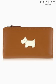 Radley® Tan Heritage Dog Medium Zip Purse