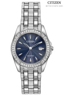 Citizen Eco Drive® Silhouette Crystal Blue Faced Watch