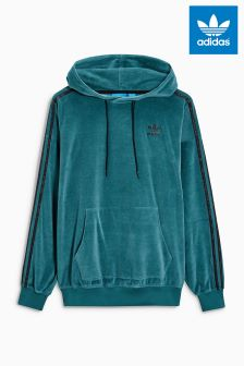 adidas Originals Green Velour Hoody