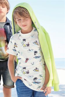 Skeleton Print T-Shirt (3-16yrs)